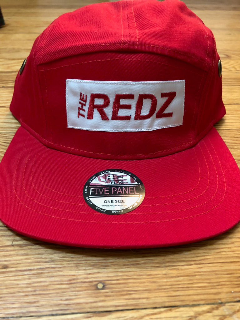 The Redz 5 Panel Hat - The Carter Brand - Black By Popular Demand - Rooting For Everybody Black - Black Pride Apparel