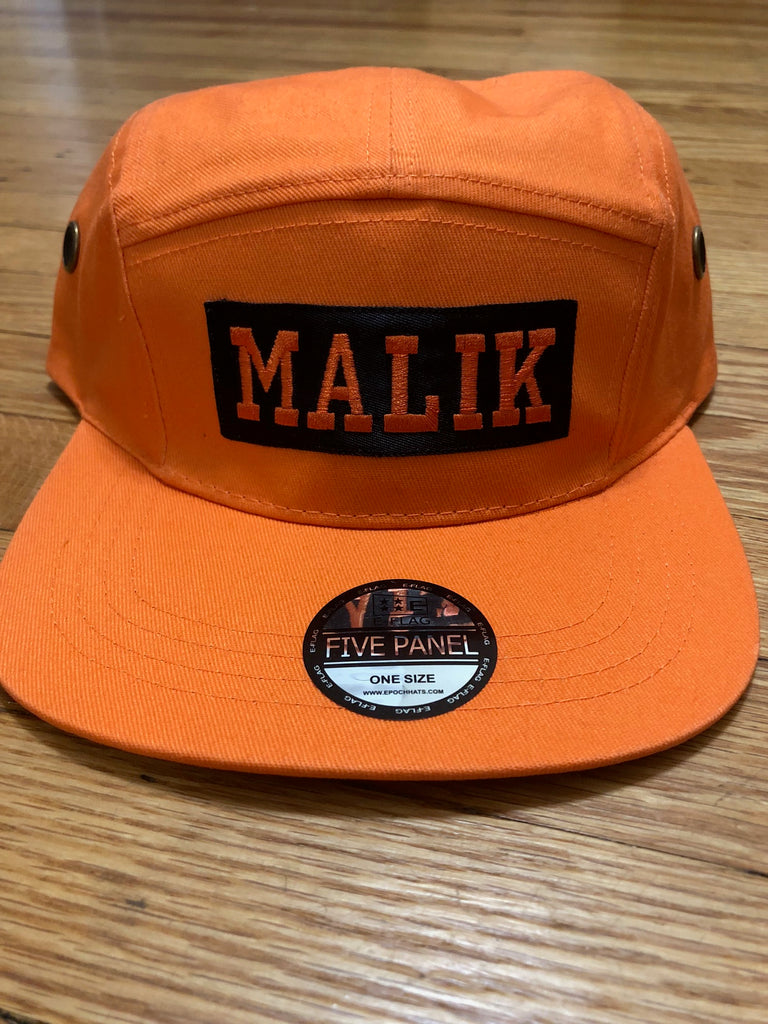 Malik 5 Panel Hat - The Carter Brand - Black By Popular Demand - Rooting For Everybody Black - Black Pride Apparel