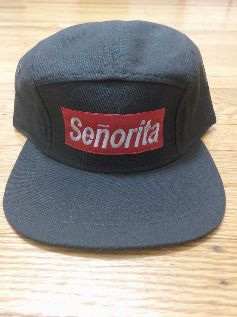 Seniorita 5 Panel Hat - The Carter Brand - Black By Popular Demand - Rooting For Everybody Black - Black Pride Apparel