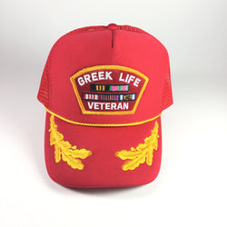 Greek Vet Trucker Red