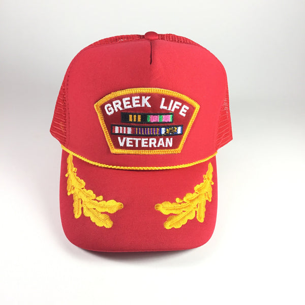 Greek Vet Trucker Red - The Carter Brand - Black By Popular Demand - Rooting For Everybody Black - Black Pride Apparel