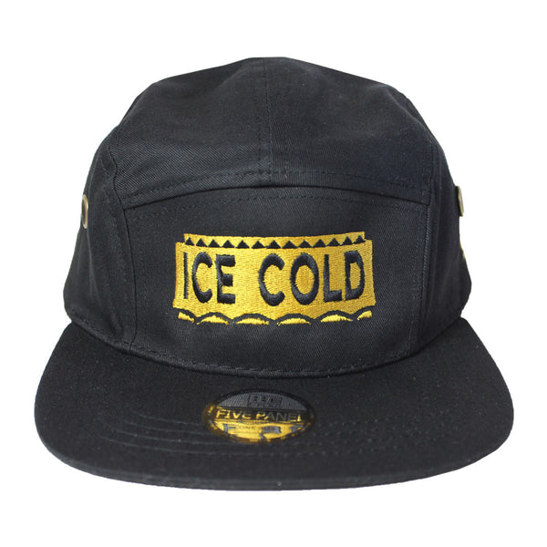Ice Cold 5 Panel Hat - The Carter Brand - Black By Popular Demand - Rooting For Everybody Black - Black Pride Apparel