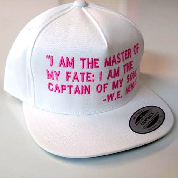 Invictus White & Pink Snapback - The Carter Brand - Black By Popular Demand - Rooting For Everybody Black - Black Pride Apparel