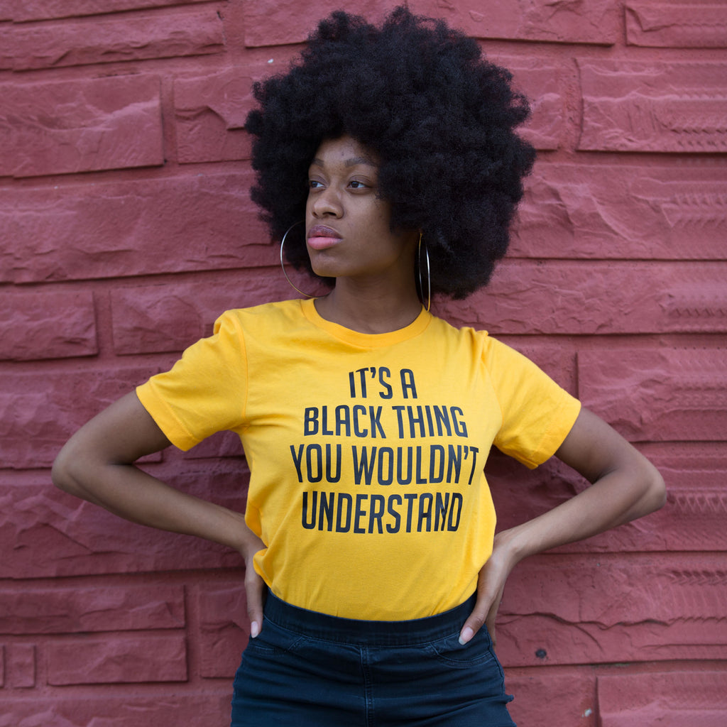 It's A Black Thing Unisex T-Shirt - The Carter Brand - Black By Popular Demand - Rooting For Everybody Black - Black Pride Apparel