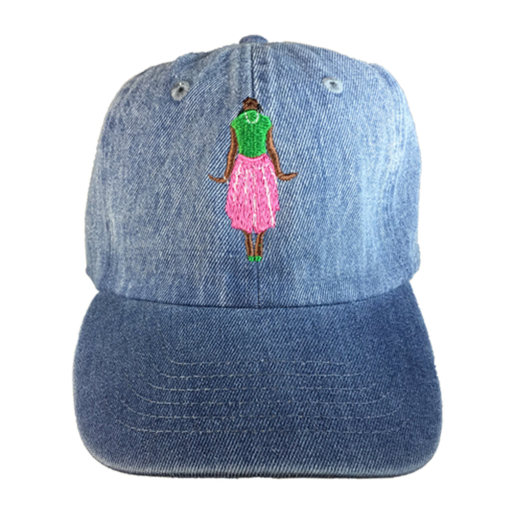 Ivy Stance Pose Denim Hat - The Carter Brand - Black By Popular Demand - Rooting For Everybody Black - Black Pride Apparel