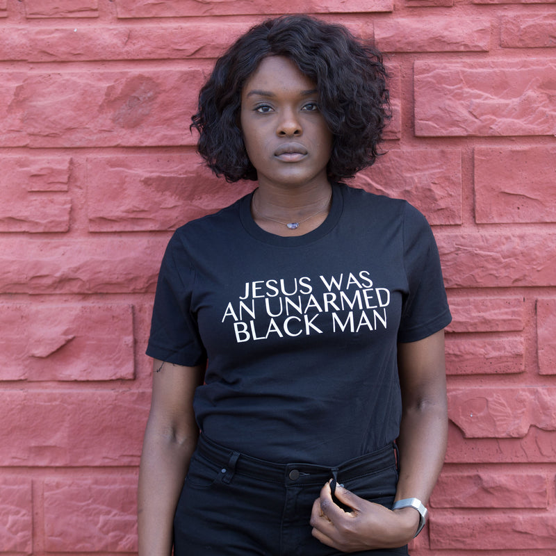 Jesus Was Unarmed Unisex T-Shirt - The Carter Brand - Black By Popular Demand - Rooting For Everybody Black - Black Pride Apparel