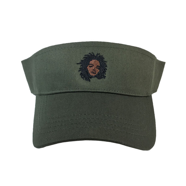 Lauryn Hill Visor - The Carter Brand - Black By Popular Demand - Rooting For Everybody Black - Black Pride Apparel