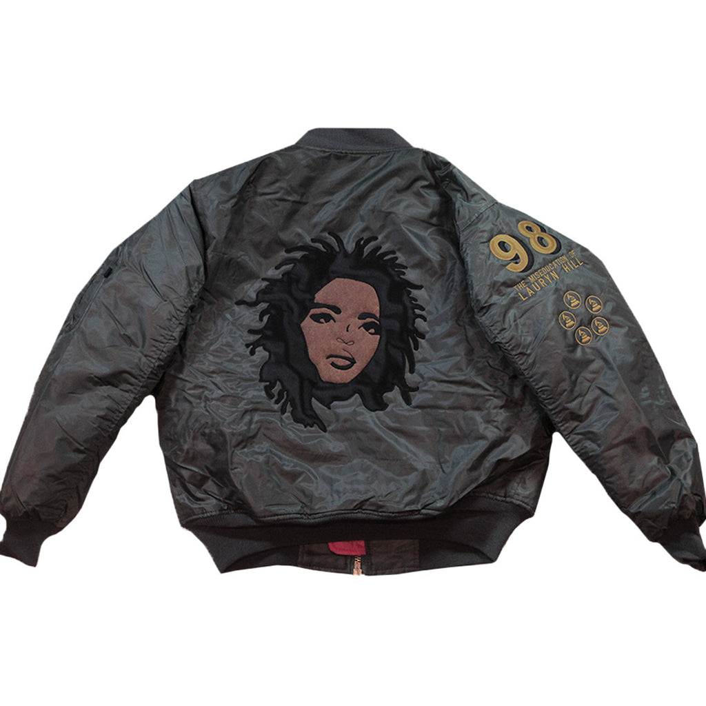 Lauryn Hill Bomber 2.0 - The Carter Brand - Black By Popular Demand - Rooting For Everybody Black - Black Pride Apparel