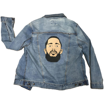 Nipsey Unisex Denim Jacket - The Carter Brand - Black By Popular Demand - Rooting For Everybody Black - Black Pride Apparel
