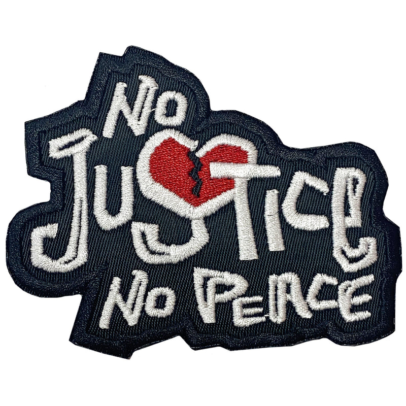 No Justice No Peace Patch - The Carter Brand - Black By Popular Demand - Rooting For Everybody Black - Black Pride Apparel
