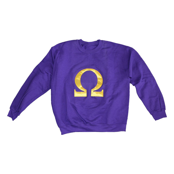 Omega Crewneck Sweatshirt - The Carter Brand - Black By Popular Demand - Rooting For Everybody Black - Black Pride Apparel