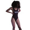 Black Excellence Swimsuit - The Carter Brand - Black By Popular Demand - Rooting For Everybody Black - Black Pride Apparel