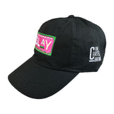 Pink and Green Slay Hat