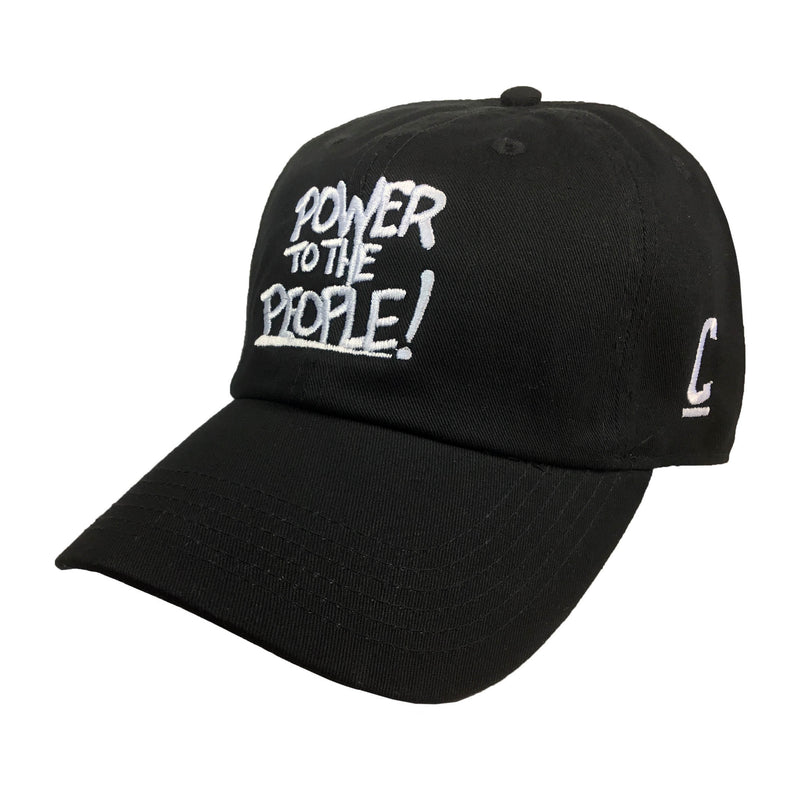 Power to the People Embroidered Hat - The Carter Brand - Black By Popular Demand - Rooting For Everybody Black - Black Pride Apparel