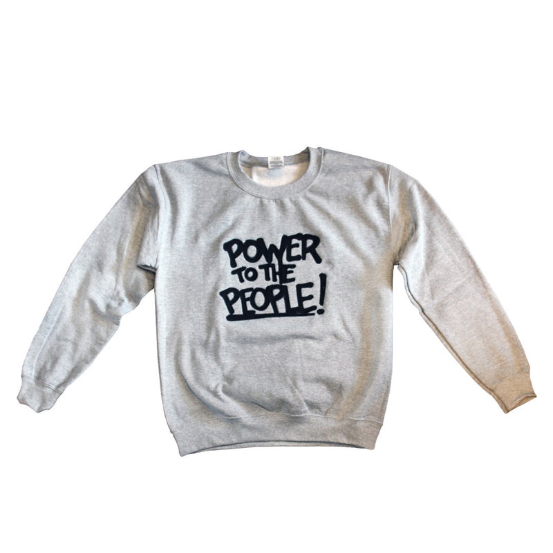 Power to the People Crewneck Sweatshirt - The Carter Brand - Black By Popular Demand - Rooting For Everybody Black - Black Pride Apparel