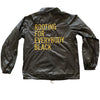 Rooting For Everybody Black Coach Jacket - The Carter Brand - Black By Popular Demand - Rooting For Everybody Black - Black Pride Apparel