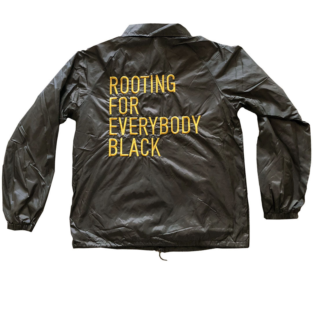 Rooting For Everybody Black Coach Jacket