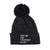 Rooting for Everybody Black Pom Beanie
