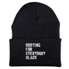 Rooting For Everybody Black Beanie - The Carter Brand - Black By Popular Demand - Rooting For Everybody Black - Black Pride Apparel