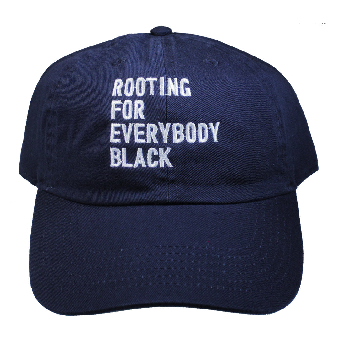 Rooting For Everybody Black Dad Hat - The Carter Brand - Black By Popular Demand - Rooting For Everybody Black - Black Pride Apparel