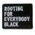 Rooting For Everybody Black Patch - The Carter Brand - Black By Popular Demand - Rooting For Everybody Black - Black Pride Apparel