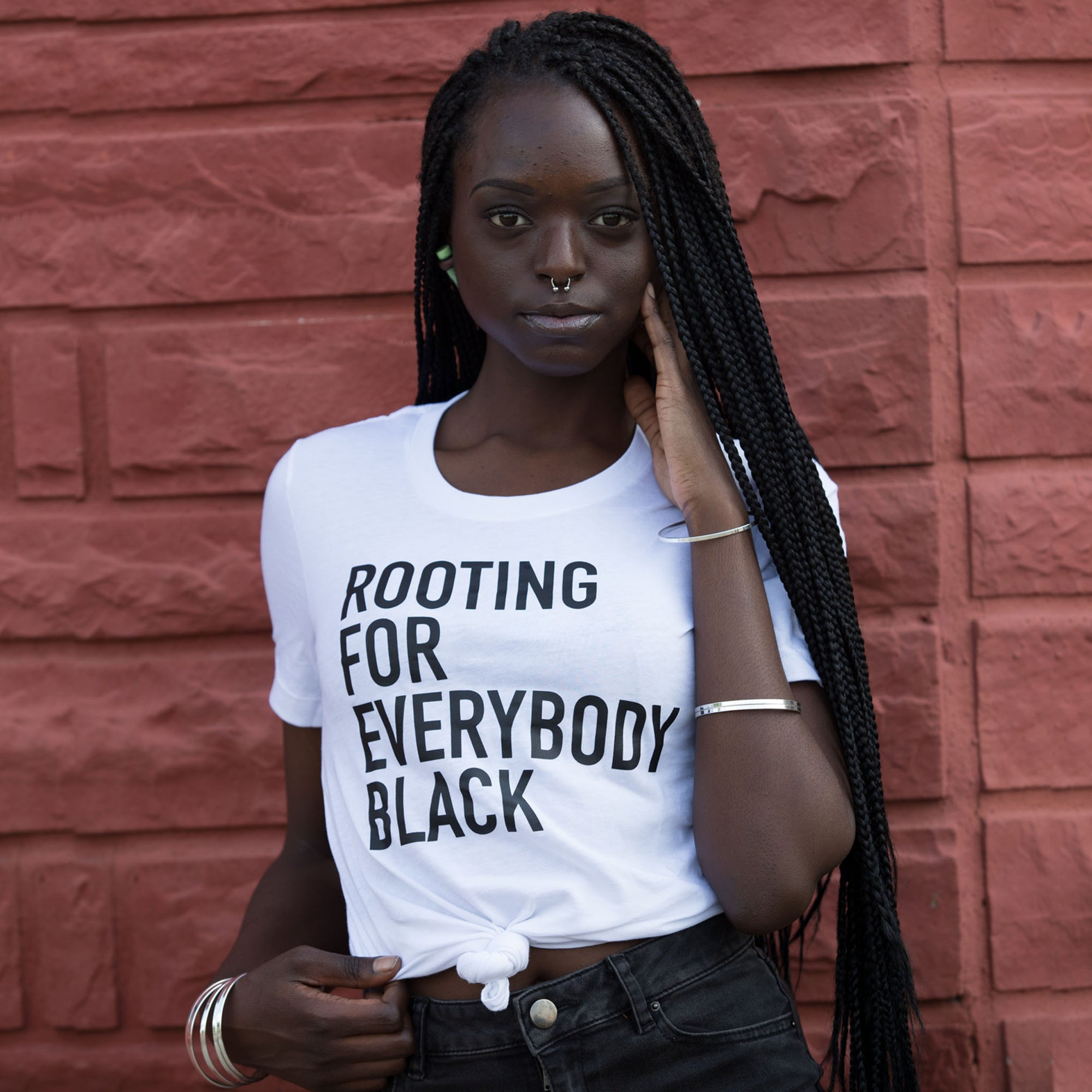 Rooting For Everybody Black Unisex T-Shirt - The Carter Brand - Black By Popular Demand - Rooting For Everybody Black - Black Pride Apparel