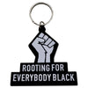 Rooting Keychain - The Carter Brand - Black By Popular Demand - Rooting For Everybody Black - Black Pride Apparel