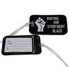 Rooting Luggage Tag - The Carter Brand - Black By Popular Demand - Rooting For Everybody Black - Black Pride Apparel