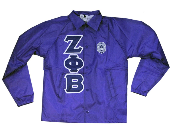Zeta Phi Beta Crest Windbreaker - The Carter Brand - Black By Popular Demand - Rooting For Everybody Black - Black Pride Apparel