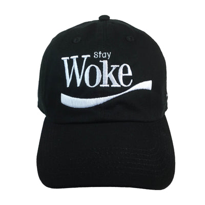 Stay Woke Embroidered Baseball Hat - The Carter Brand - Black By Popular Demand - Rooting For Everybody Black - Black Pride Apparel
