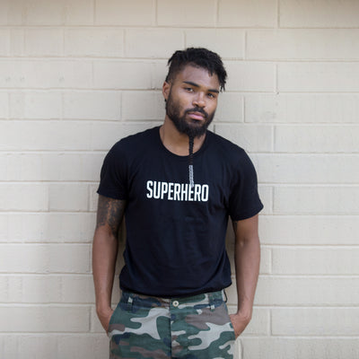Superhero Unisex T-Shirt - The Carter Brand - Black By Popular Demand - Rooting For Everybody Black - Black Pride Apparel