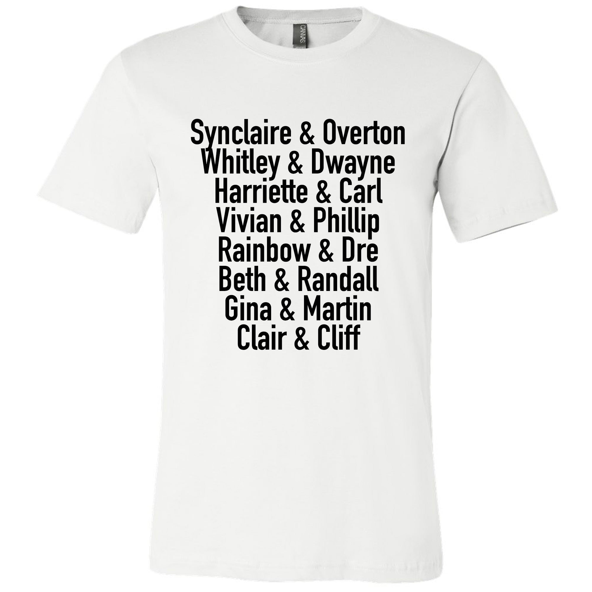 TV Couples Unisex T-shirt - The Carter Brand - Black By Popular Demand - Rooting For Everybody Black - Black Pride Apparel