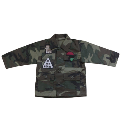 X Camouflage Unisex Kids Jacket - The Carter Brand - Black By Popular Demand - Rooting For Everybody Black - Black Pride Apparel