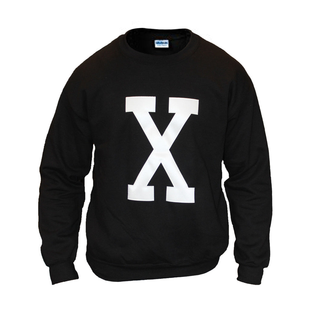 X Crewneck Sweatshirt - The Carter Brand - Black By Popular Demand - Rooting For Everybody Black - Black Pride Apparel