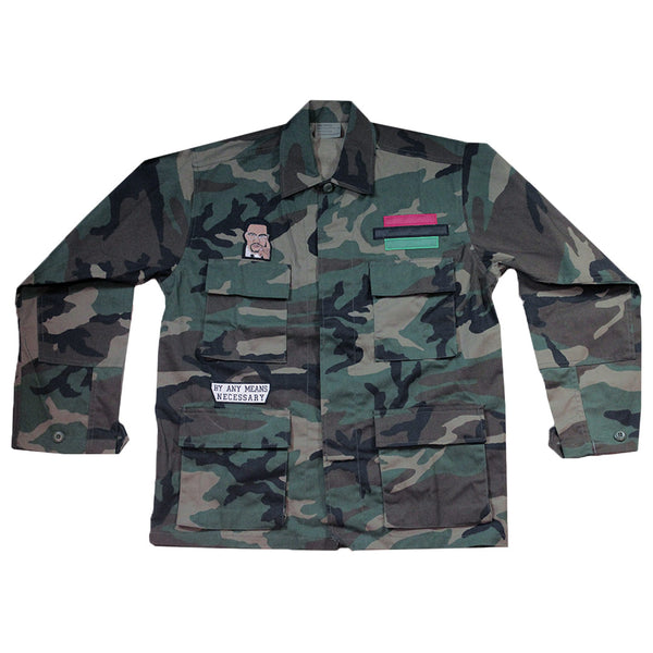 Malcolm X Military Jacket 2.0 - The Carter Brand - Black By Popular Demand - Rooting For Everybody Black - Black Pride Apparel