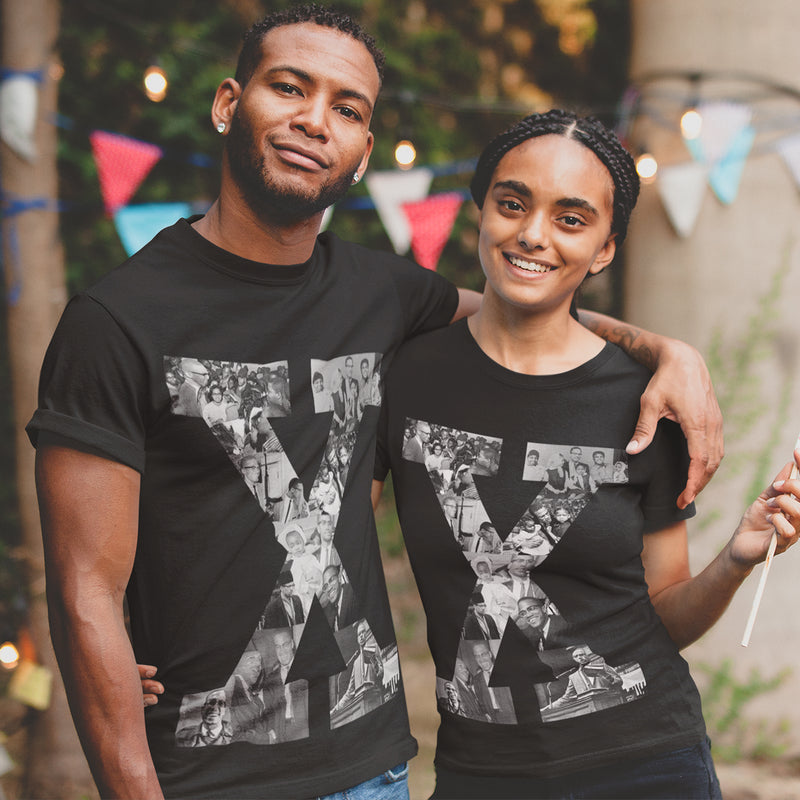 X Graphic Unisex T-Shirt - The Carter Brand - Black By Popular Demand - Rooting For Everybody Black - Black Pride Apparel
