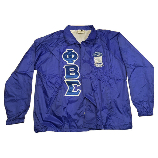 Phi Beta Sigma Windbreaker - The Carter Brand - Black By Popular Demand - Rooting For Everybody Black - Black Pride Apparel