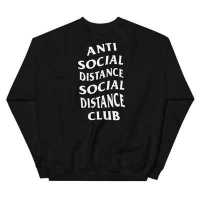 Social Distance Unisex Sweatshirt - The Carter Brand - Black By Popular Demand - Rooting For Everybody Black - Black Pride Apparel