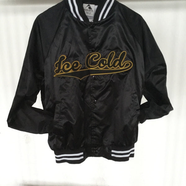 Ice Cold Satin Jacket - The Carter Brand - Black By Popular Demand - Rooting For Everybody Black - Black Pride Apparel