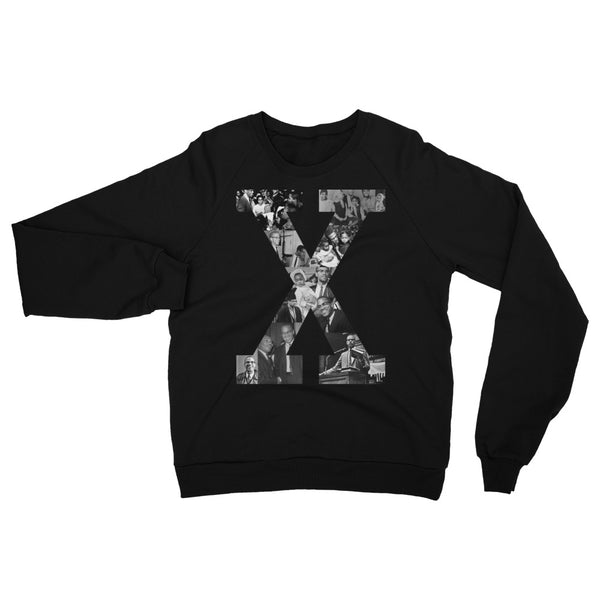 X Graphic Unisex Raglan Sweatshirt - The Carter Brand - Black By Popular Demand - Rooting For Everybody Black - Black Pride Apparel