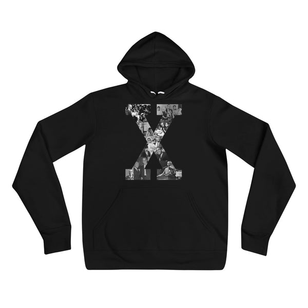 X Graphic Unisex hoodie - The Carter Brand - Black By Popular Demand - Rooting For Everybody Black - Black Pride Apparel