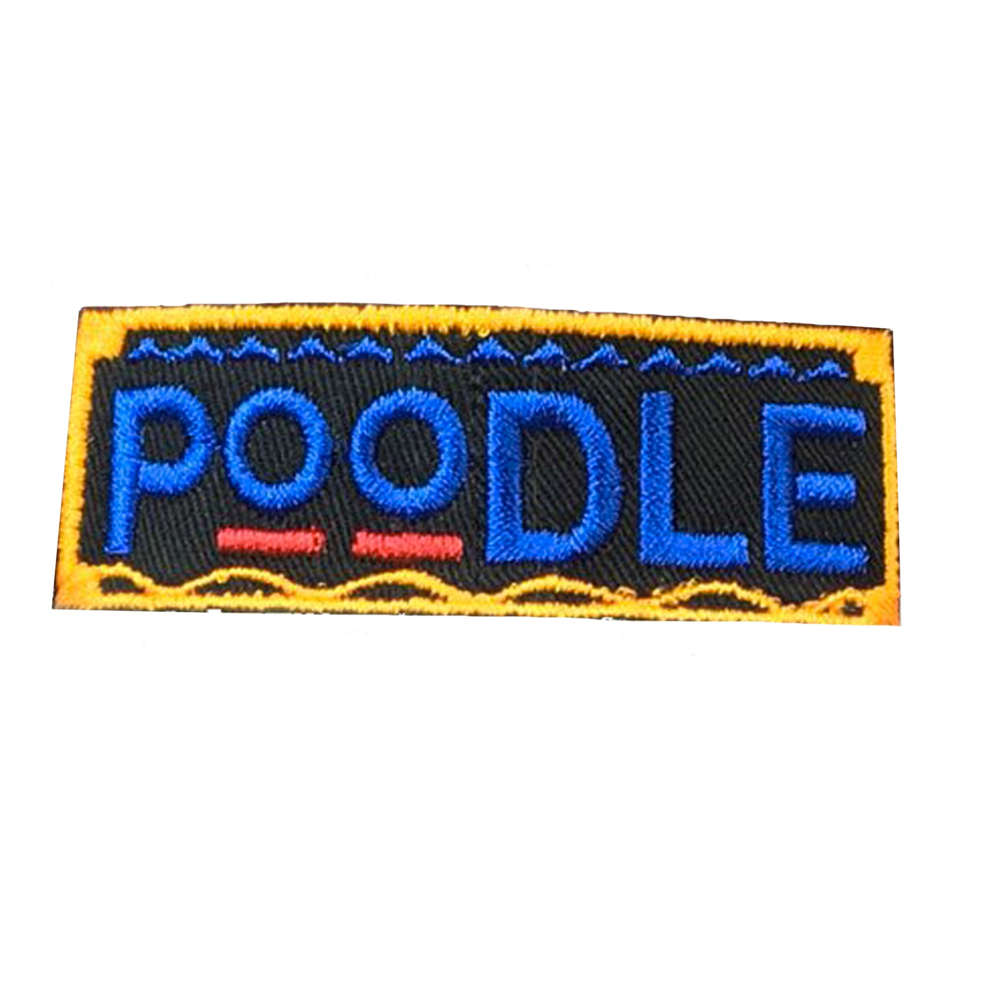 Poodle Retro Patch - The Carter Brand - Black By Popular Demand - Rooting For Everybody Black - Black Pride Apparel