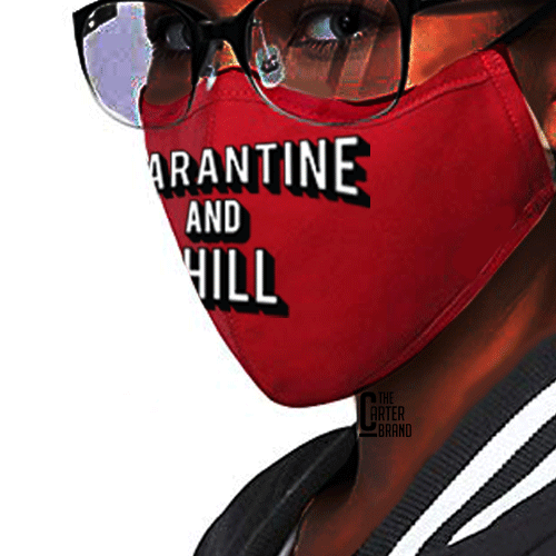 Quarantine Face Mask - The Carter Brand - Black By Popular Demand - Rooting For Everybody Black - Black Pride Apparel