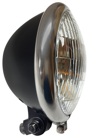 Black with Stainless Ring Headlight