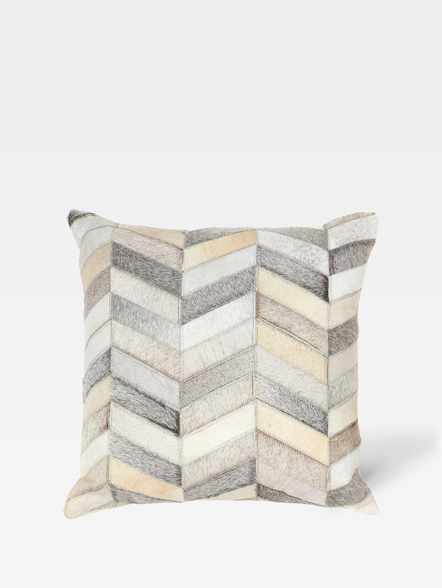Cow Hide Herringbone Square Cushion