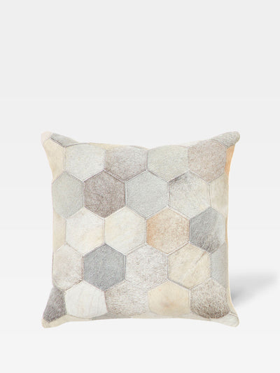 Cow Hide Hexagon Square Cushion