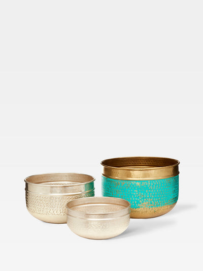 River Brass Planter Set