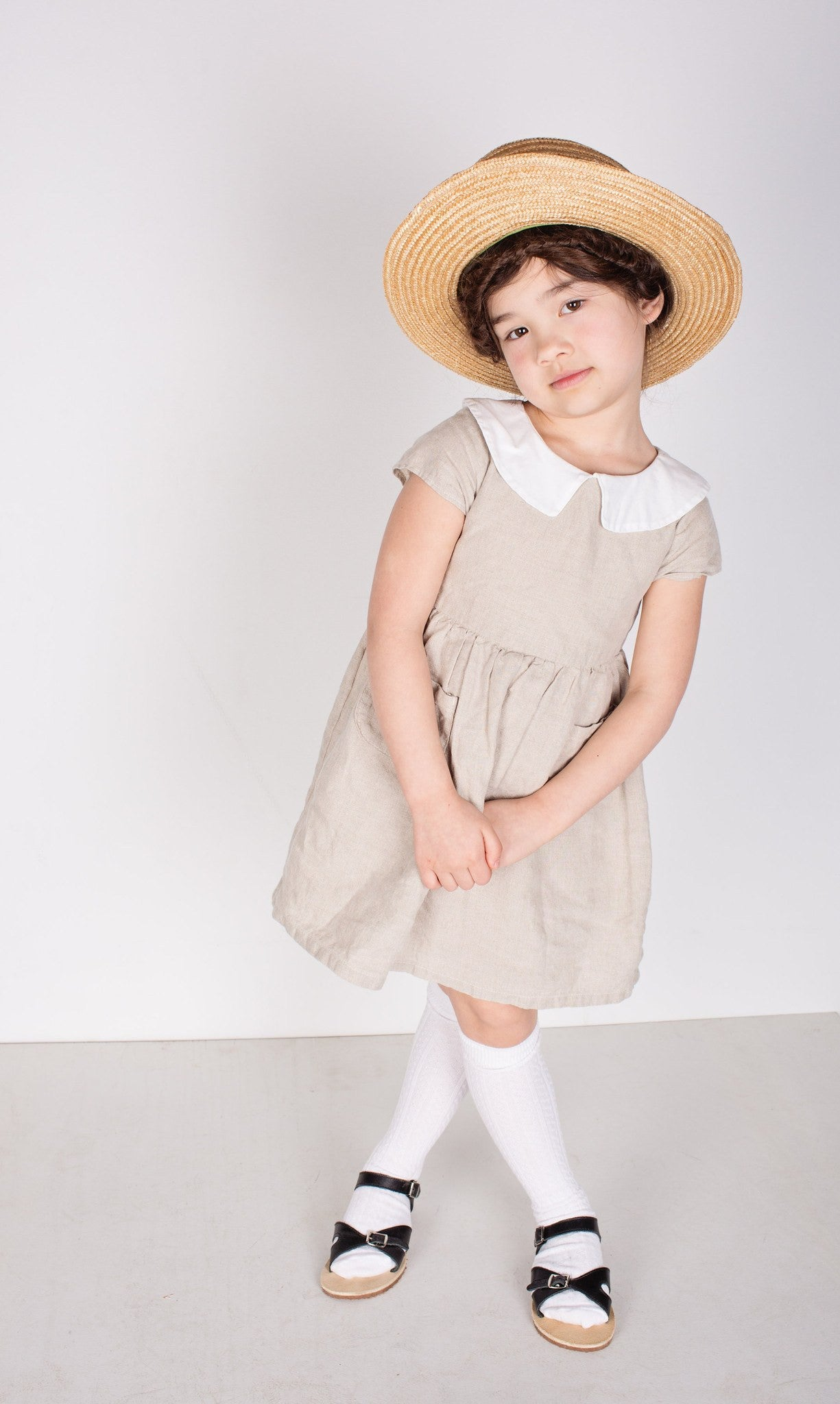 Tortoise & the Hare Alice Dress - Natural Linen