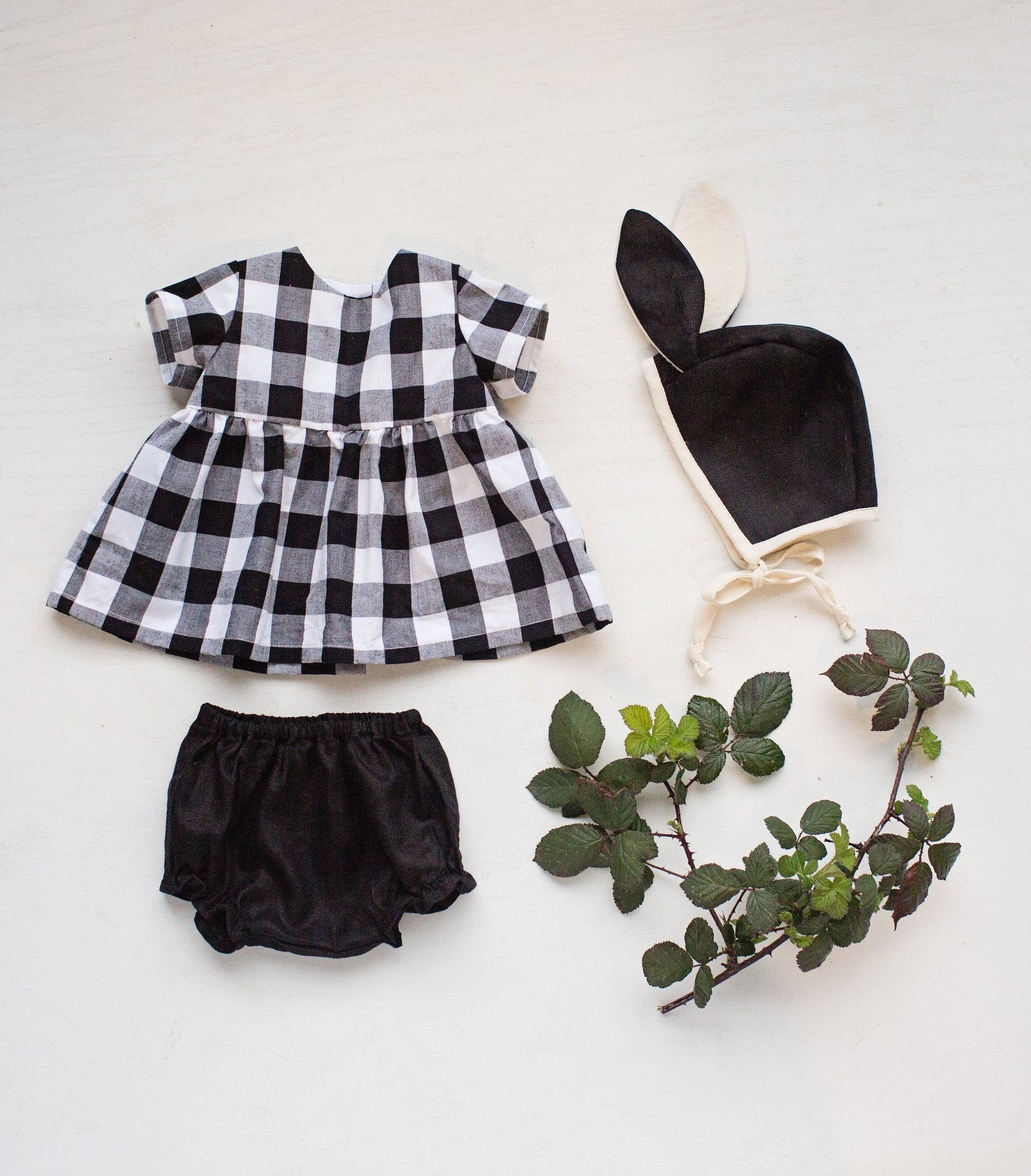 fawn&forest Tortoise & the Hare Black & White Gingham Blouse - fawn&forest