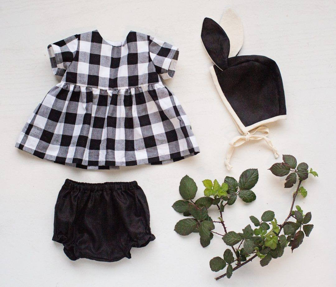 fawn&forest Tortoise & the Hare Classic Linen Bloomers - Black - fawn&forest